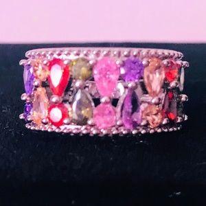 Jewelry - NEW! COLORFUL TANZANITE 925 SILVER RING SIZE 7